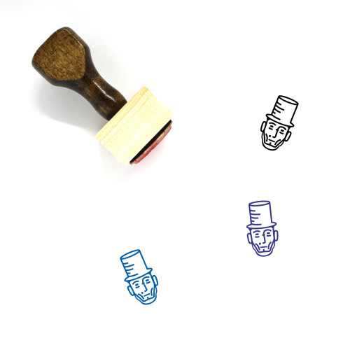 Abraham Lincoln Wooden Rubber Stamp No. 1