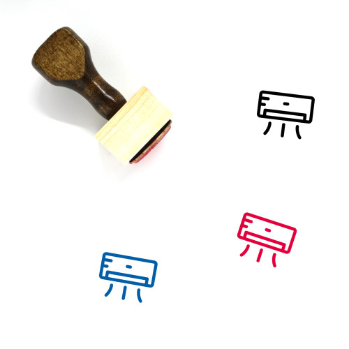 Air Conditioner Wooden Rubber Stamp No. 38