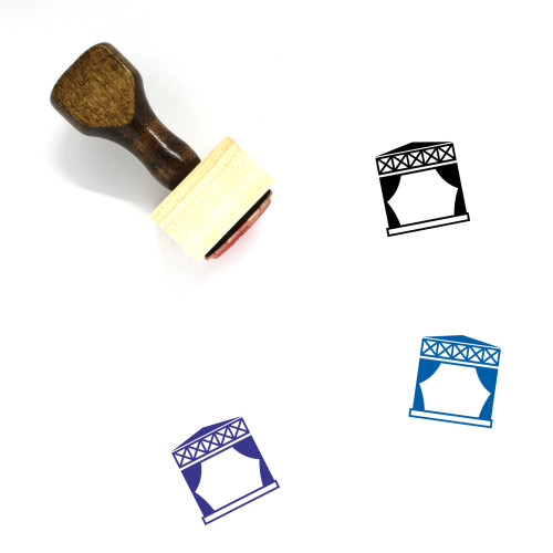 Stage Wooden Rubber Stamp No. 10