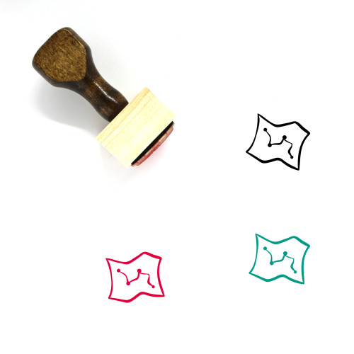 Map Wooden Rubber Stamp No. 622
