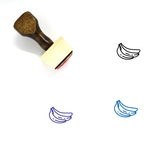 Banana Wooden Rubber Stamp No. 2