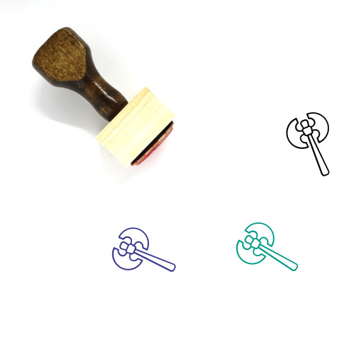 Vikings Wooden Rubber Stamp No. 6