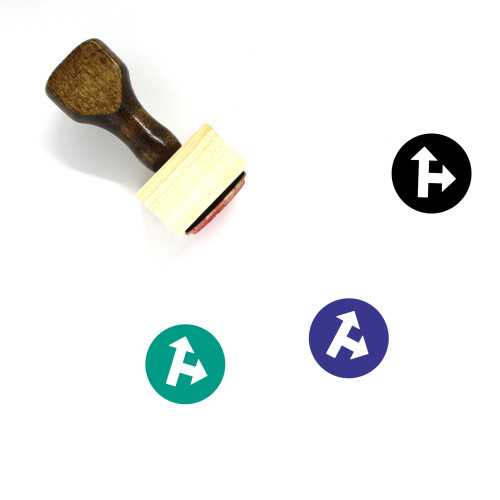 Ahead Or Right Wooden Rubber Stamp No. 1