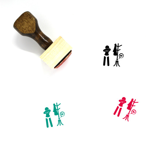 Peeping Tom Wooden Rubber Stamp No. 4