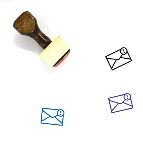 Important Mail Wooden Rubber Stamp No. 5