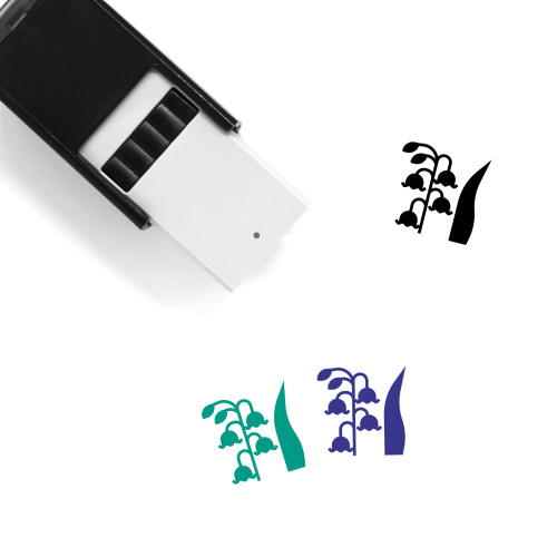 Lily Of The Valley Self-Inking Rubber Stamp No. 8