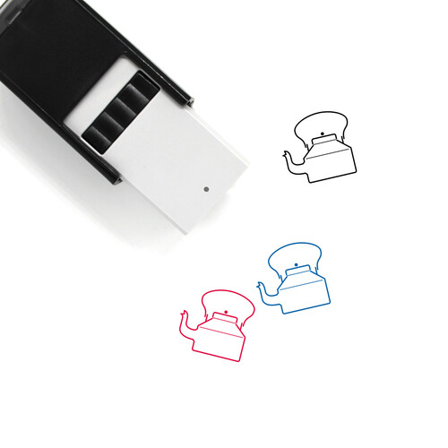 Teapot Self-Inking Rubber Stamp No. 33
