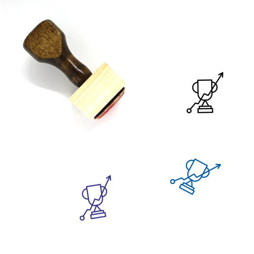 Trophy Wooden Rubber Stamp No. 418