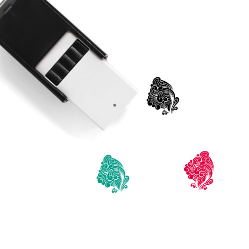 Wave Self-Inking Rubber Stamp No. 6
