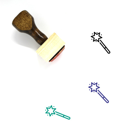 Magic Wand Wooden Rubber Stamp No. 45