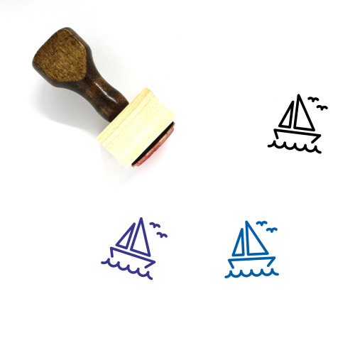 Sail Boat Wooden Rubber Stamp No. 19