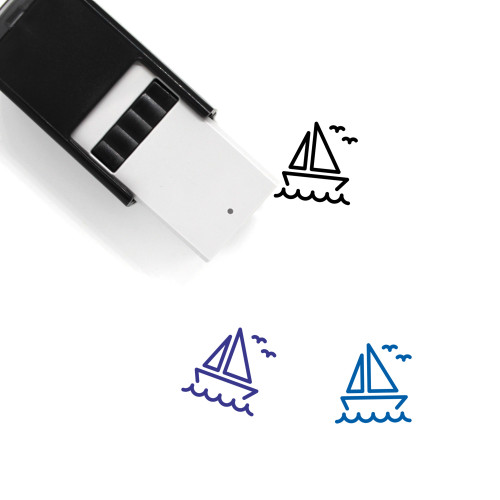 Sail Boat Self-Inking Rubber Stamp No. 19