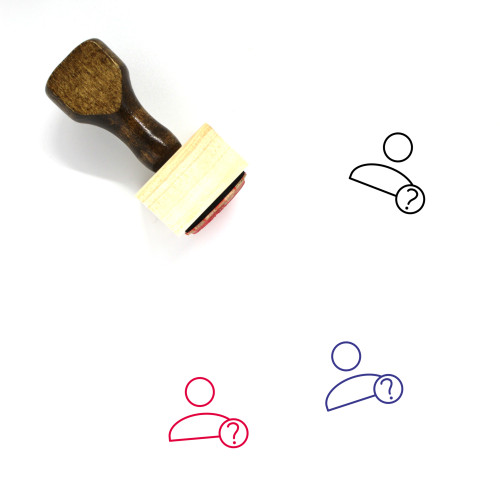 User Profile Unknown Wooden Rubber Stamp No. 1