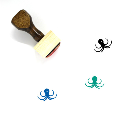 Kraken Wooden Rubber Stamp No. 13