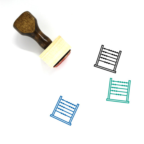 Abacus Wooden Rubber Stamp No. 24