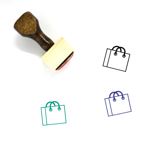 Paperbag Wooden Rubber Stamp No. 10