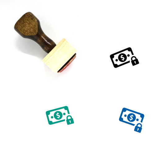 Secure Payment Wooden Rubber Stamp No. 26
