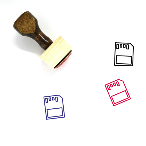 Micro Sd Wooden Rubber Stamp No. 11