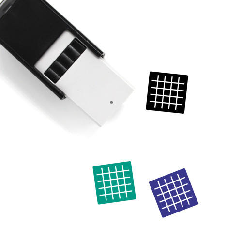 Grid Self-Inking Rubber Stamp No. 65