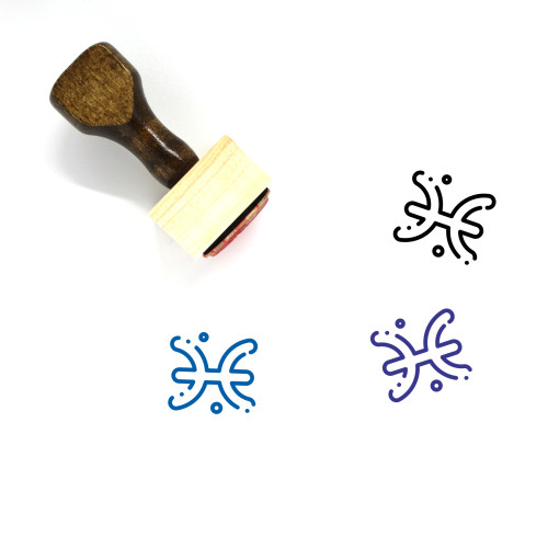 Astrology Wooden Rubber Stamp No. 25