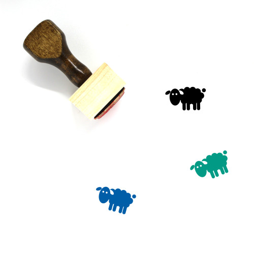 Sheep Wooden Rubber Stamp No. 55