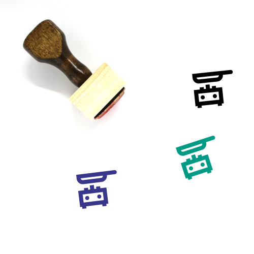 Frying Pan Wooden Rubber Stamp No. 58