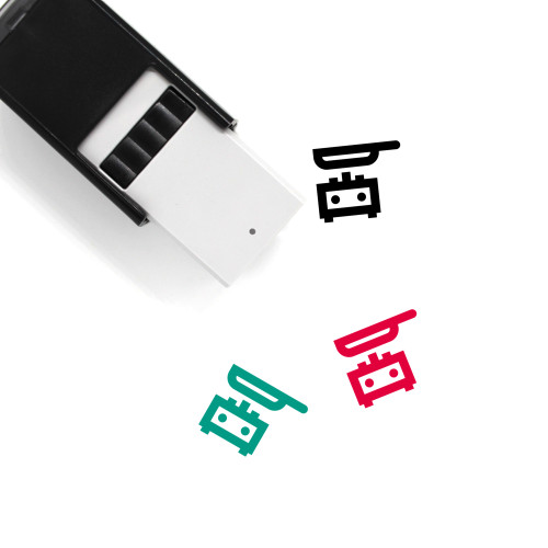 Frying Pan Self-Inking Rubber Stamp No. 58