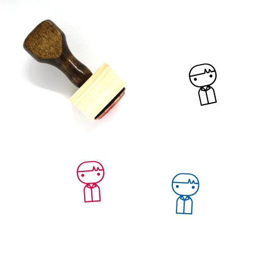 Boy Wooden Rubber Stamp No. 149