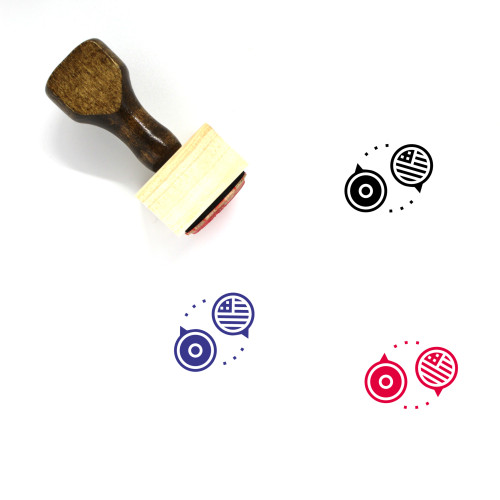 Languages Wooden Rubber Stamp No. 3