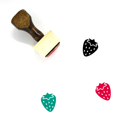 Strawberry Wooden Rubber Stamp No. 119