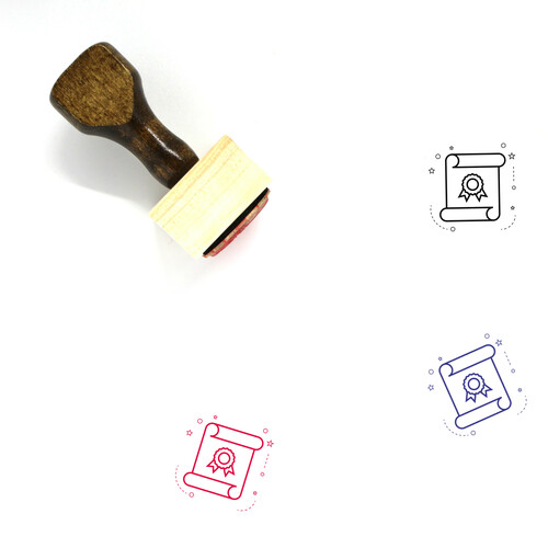 Academic Degree Wooden Rubber Stamp No. 17