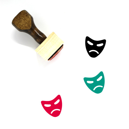 Mask Wooden Rubber Stamp No. 94
