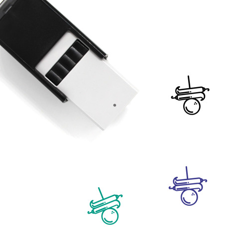Luck Self-Inking Rubber Stamp No. 2