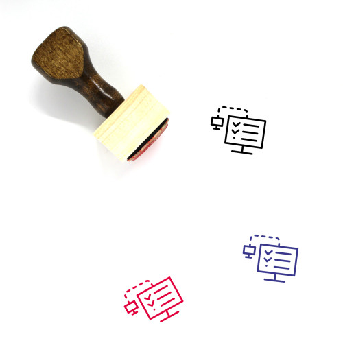 Remote Testing Wooden Rubber Stamp No. 1