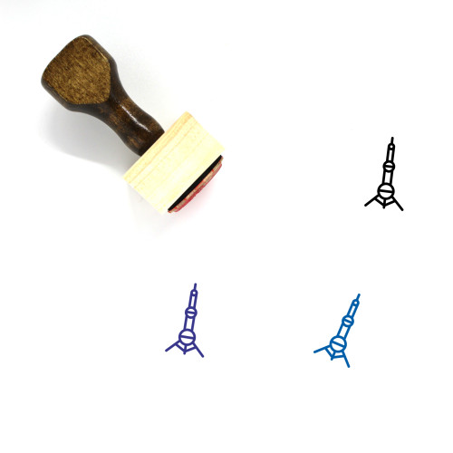 Oriental Pearl Tower Wooden Rubber Stamp No. 8