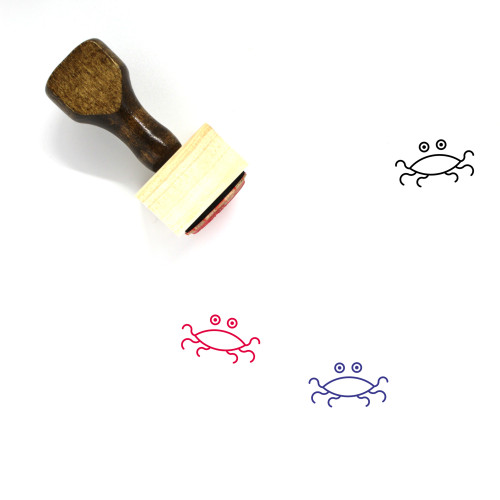 Flying Spaghetti Monster Wooden Rubber Stamp No. 7