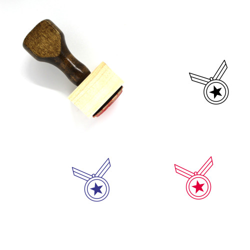 Medals Wooden Rubber Stamp No. 19