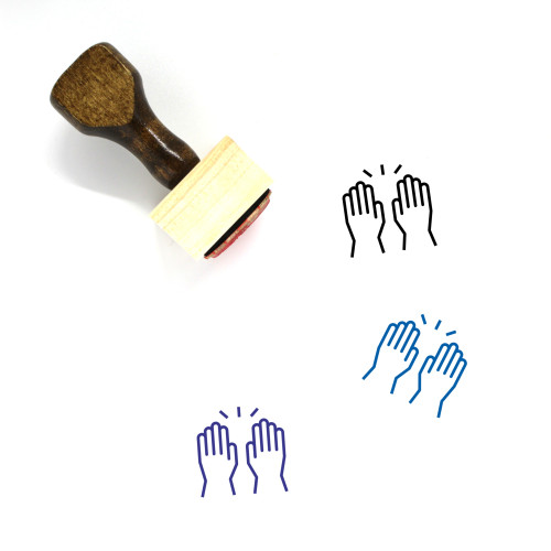 High Five Wooden Rubber Stamp No. 39
