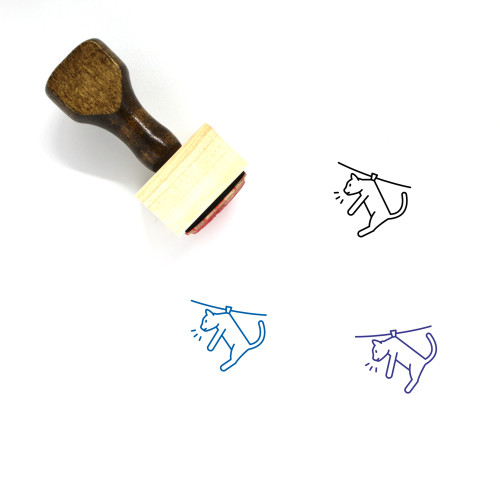 Cat Wooden Rubber Stamp No. 159