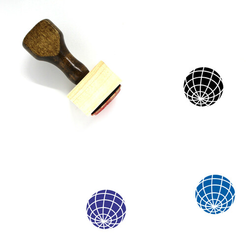 Globe Wooden Rubber Stamp No. 1290