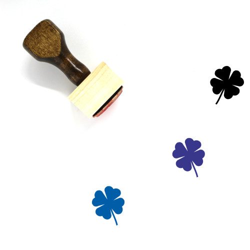 Clover Wooden Rubber Stamp No. 97