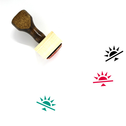 Sunrise Wooden Rubber Stamp No. 54