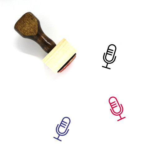 Opinions Wooden Rubber Stamp No. 2