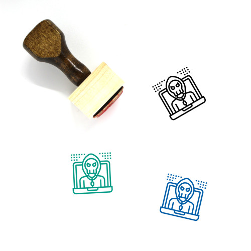 Hacking Wooden Rubber Stamp No. 10