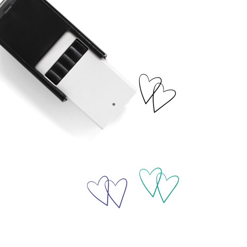 Two Hears Self-Inking Rubber Stamp No. 1