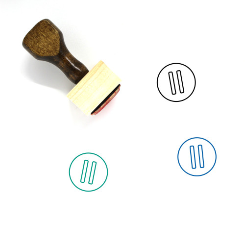 Pause Wooden Rubber Stamp No. 188