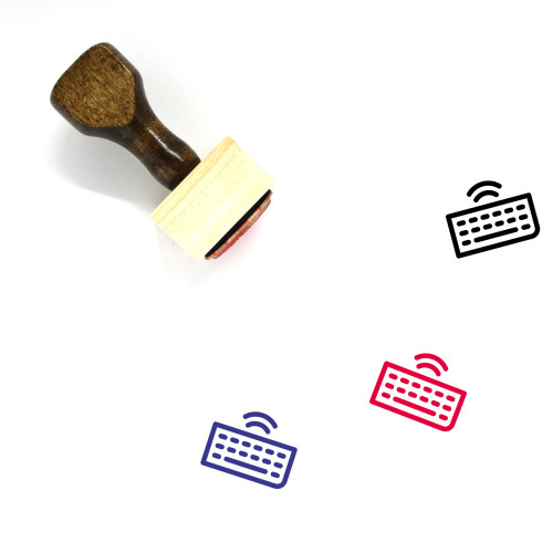 Wireless Keyboard Wooden Rubber Stamp No. 40