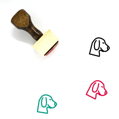 Dog Wooden Rubber Stamp No. 152