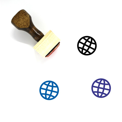 Globe Wooden Rubber Stamp No. 348
