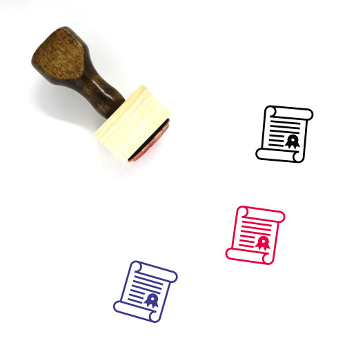 Academic Degree Wooden Rubber Stamp No. 18